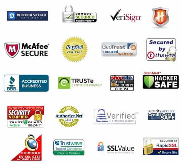 secure payment processors trust badges