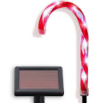 Philips 52352106 25,000 Hour Life Bulb Solar LED Light Set 6 Cool White Candy Cane Lawn Stake