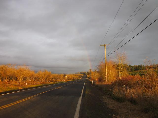 Rainbow up by Ribbon Ridge Rd