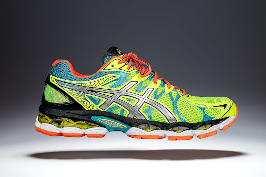 Fast and affordable running shoes product photography