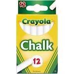 Crayola Chalk, White, Sticks - 12 sticks