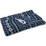"62"" x 50"" Microplush Electric Throw Blanket Navy Snowflake - Biddeford Blankets"