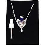 Relaxus - Venezia Bottle Heart Diffuser Necklace Blue, Women's
