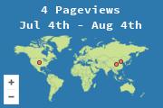 Lokalizacje odwiedzających tę stronę