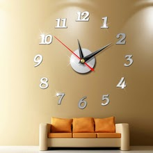 Large Wall Clock 3d Mirror Sticker Unique Big Number Watch