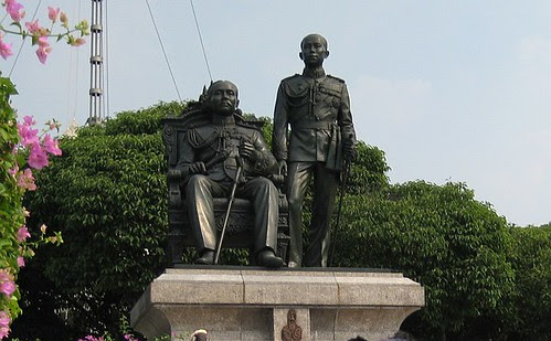 King Rama V and VI, founders of Chula