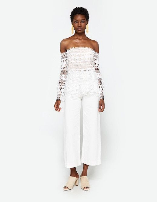 Le Fashion Blog Must Have Crochet White Off The Shoulder Top Via Need Supply