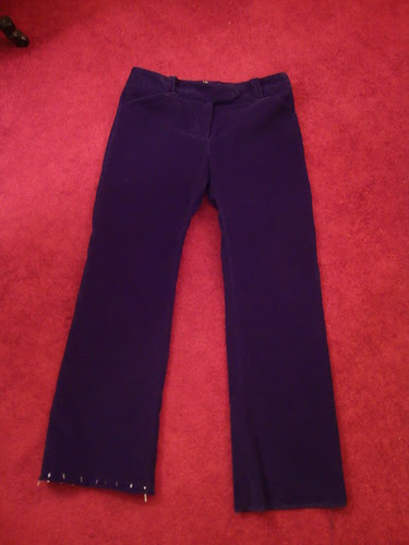 Sewaholic Thurlow Trousers final steps