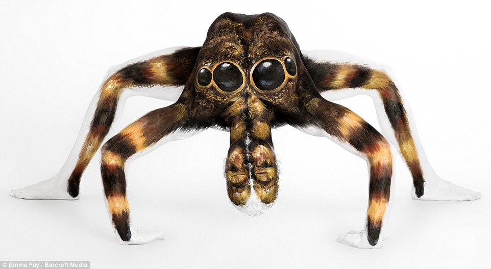 The stuff of nightmares: You wouldn't want this giant tarantula under your bed - no matter how elegantly it was painted