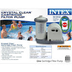 Intex 1500 GPH Krystal Clear Cartridge Filter Pump for Above Ground Pool, Gray