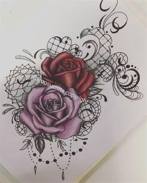 lace rose tattoo design lace rose tattoos rose tattoo