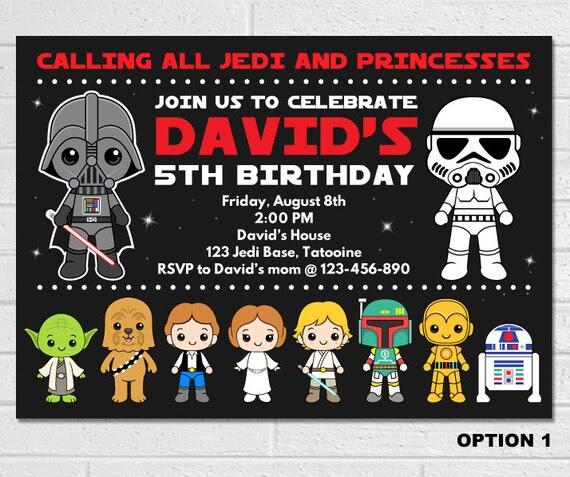 Geburtstag Karte Star Wars