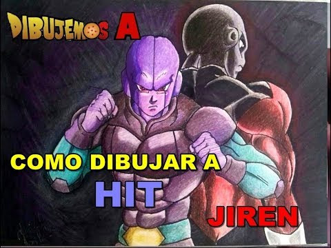 Como Dibujar a Hit y a Jiren con colores escolares kores/ How to Draw Hit and Jiren