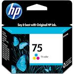 HP 75 Ink Cartridge, Dye-based tricolor - 1-pack