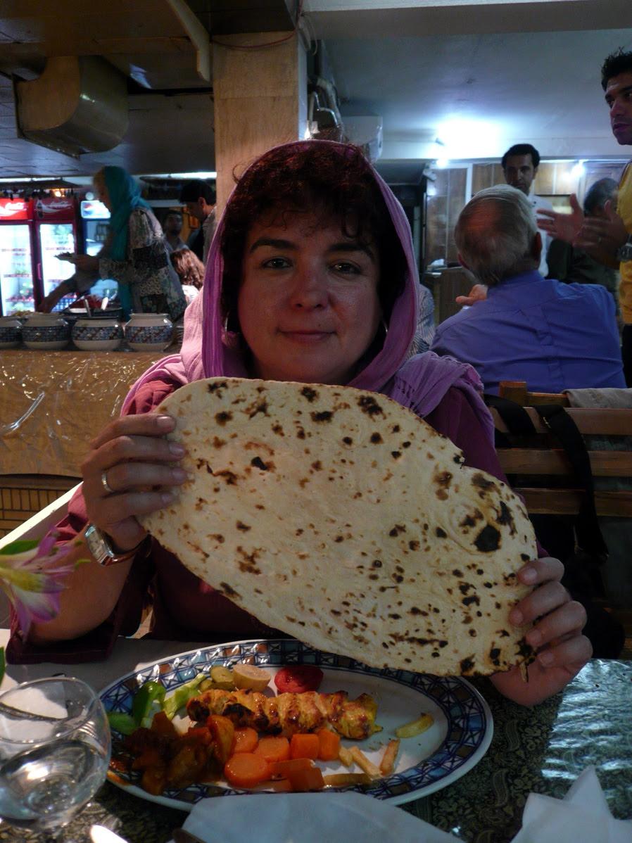 pan iraní y kebab