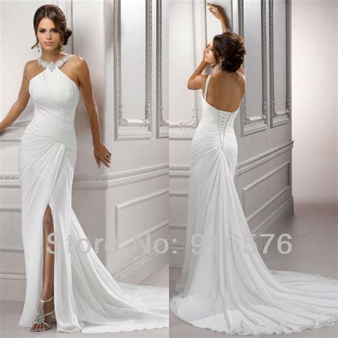 Goddness ruched white halter neck pleated Halter Front
