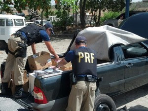 Mídias piratas apreendidas pela PRF de Caruaru (Foto: Divulgação/ PRF)