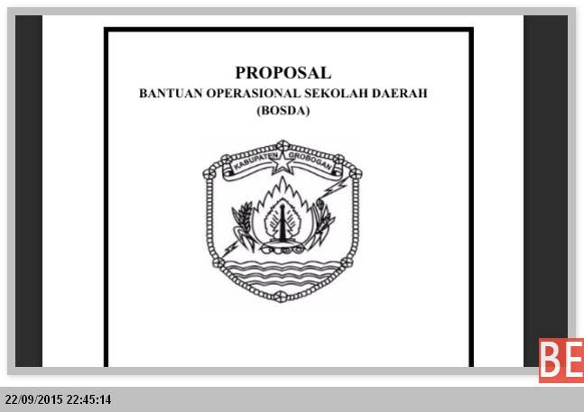 CONTOH PROPOSAL BOS DAERAH TAHUN 2015-2016 MS. WORD