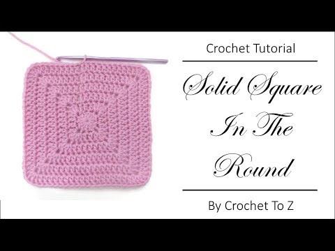 فيديو شرح طريقة عمل وحدة مربعة منتصف دائرة  Solid DC Square in the Round  كروشيه