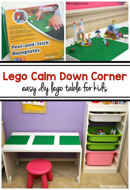 Calm Down Corner for Kids with DIY LEGO Table - Where Imagination Grows