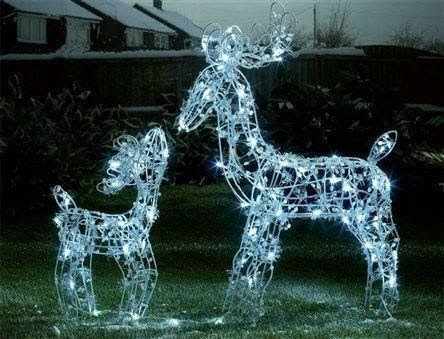 Outdoor Light Up Reindeer  eBay
