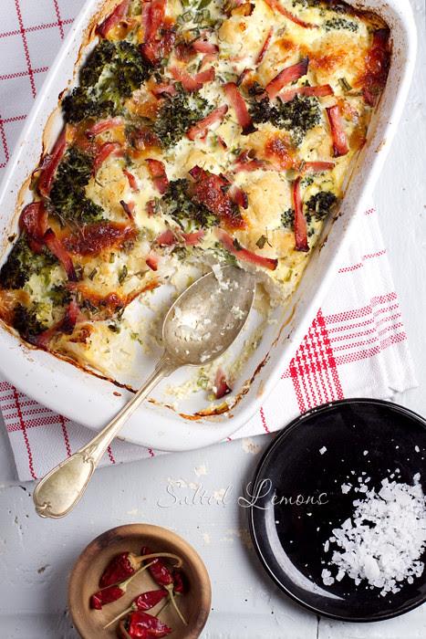 Cauliflower-Broccoli Gratten