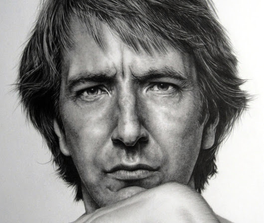 Alan Rickman Close Up