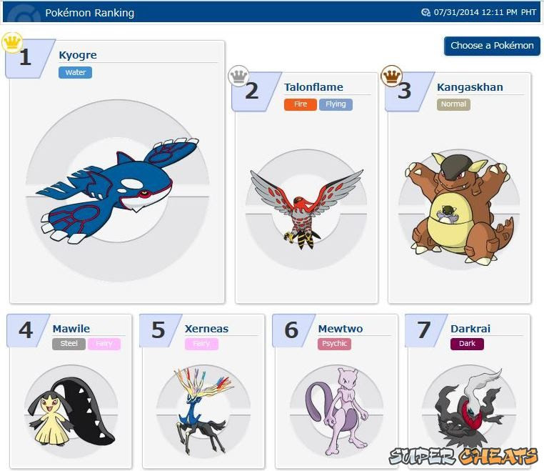 Online Competition Rankings  Pokemon Omega Ruby
