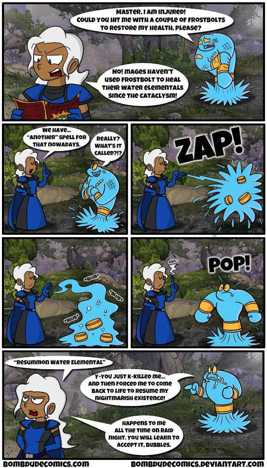 How Blizzard wants mages to treat their Water Elementals [Comic] - Imgur