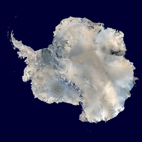 Satellite map of Antarctica