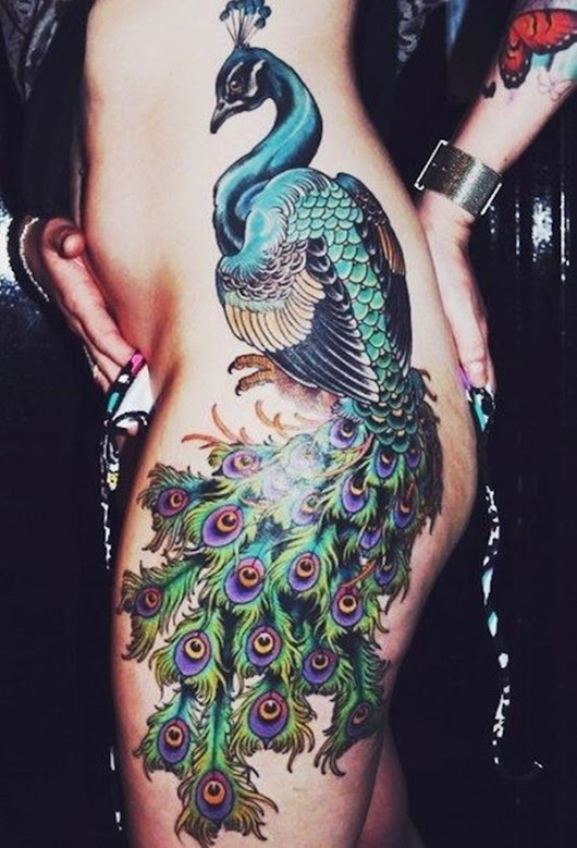 40 Peacock Tattoo Designs for Girls
