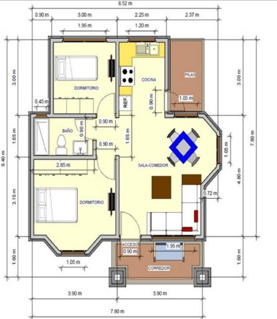 Planos De Casas Pequeñas Modernas De Dos Pisos Y De Una Planta
