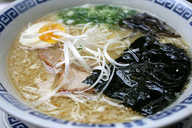 Extra rich pork bone broth ramen
