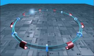 Gráfico del Gran Colisionador Hadrón