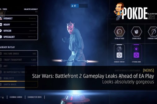 Gameplay for Star Wars; Battlefront 2 has leaked early and features Star Wars characters from multiple...