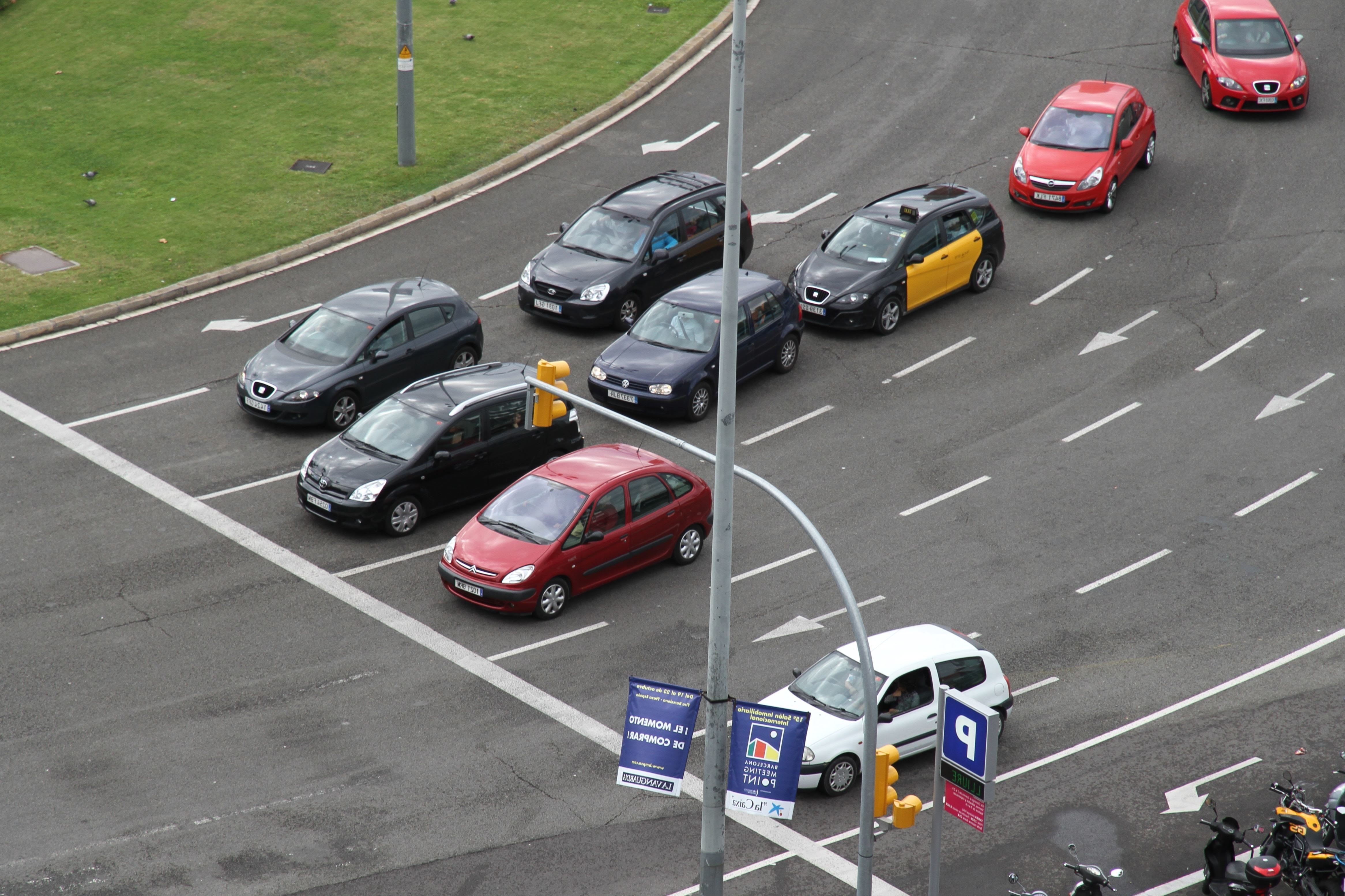 Free Picture Intersection Car Traffic Light Asphalt Traffic Vehicle