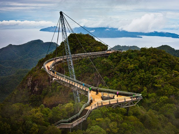 Langwaki Sky Bridge, ponte suspensa na Malásia (Foto: Jim Boud/Creative Commons)