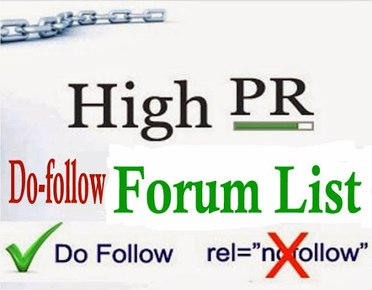 Top 100 High Page Rank (PR) Dofollow Forum Site List 2014