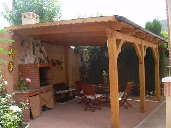 Dormitorio muebles modernos techos para barbacoas - Barbacoas rusticas ladrillo ...