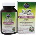 Garden of Life RAW Enzymes Women 50 & Wiser, 90 Vegetarian Capsules