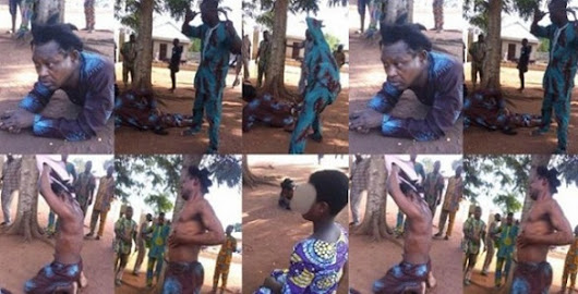55-year-old paedophile pastor flogged mercilessly for abducting and impregnating 10-year-old girl (Photos)