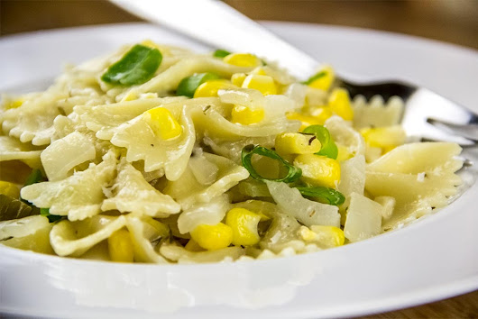 Bow Tie Pasta With Creamy Corn, Thyme & Parmesan Sauce Recipe