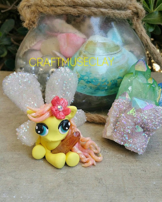 Fantasy Fairy Pony Polymer Clay Figure by CraftMuseClayShop
