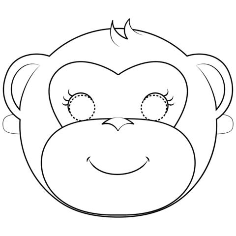 Disegno Di Maschera Scimmia Da Colorare Disegni Da Colorare E