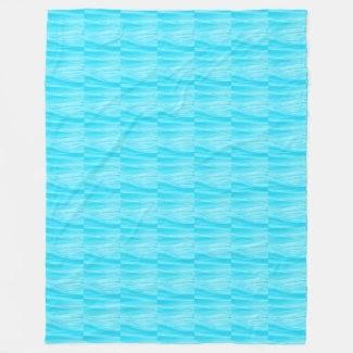 Turquoise Wavy Fleece Blanket at Zazzle.com/lizardmarsh*