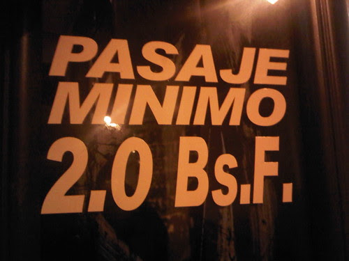 Pasaje Minimo 2.0 Bs.F.