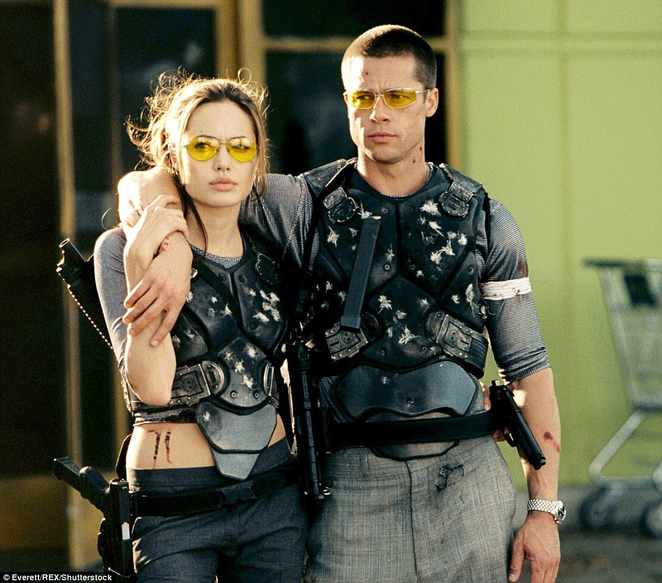 Workplace romance: Angelina and Brad met on the set of Mr. & Mrs. Smith in 2004. At the time Brad was still married to Jennifer Aniston