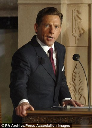 Scientology leader David Miscavige addresses the crowd during the opening of the Church of Scientology's new church in the City of London