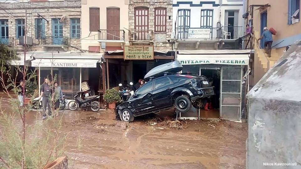 floods symi greece