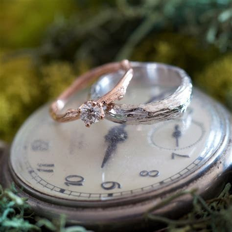 Nature inspired wedding rings for nature lovers and